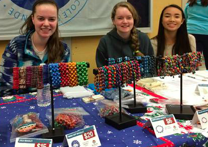 Bead for Life table at the Holiday Bazaar