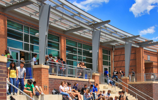 Photo © Grimm & Parker Students on steps