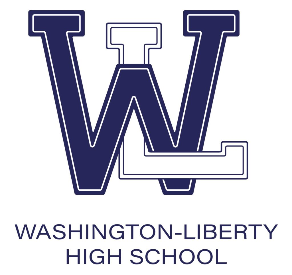 W-L Tangled Logo Blue White