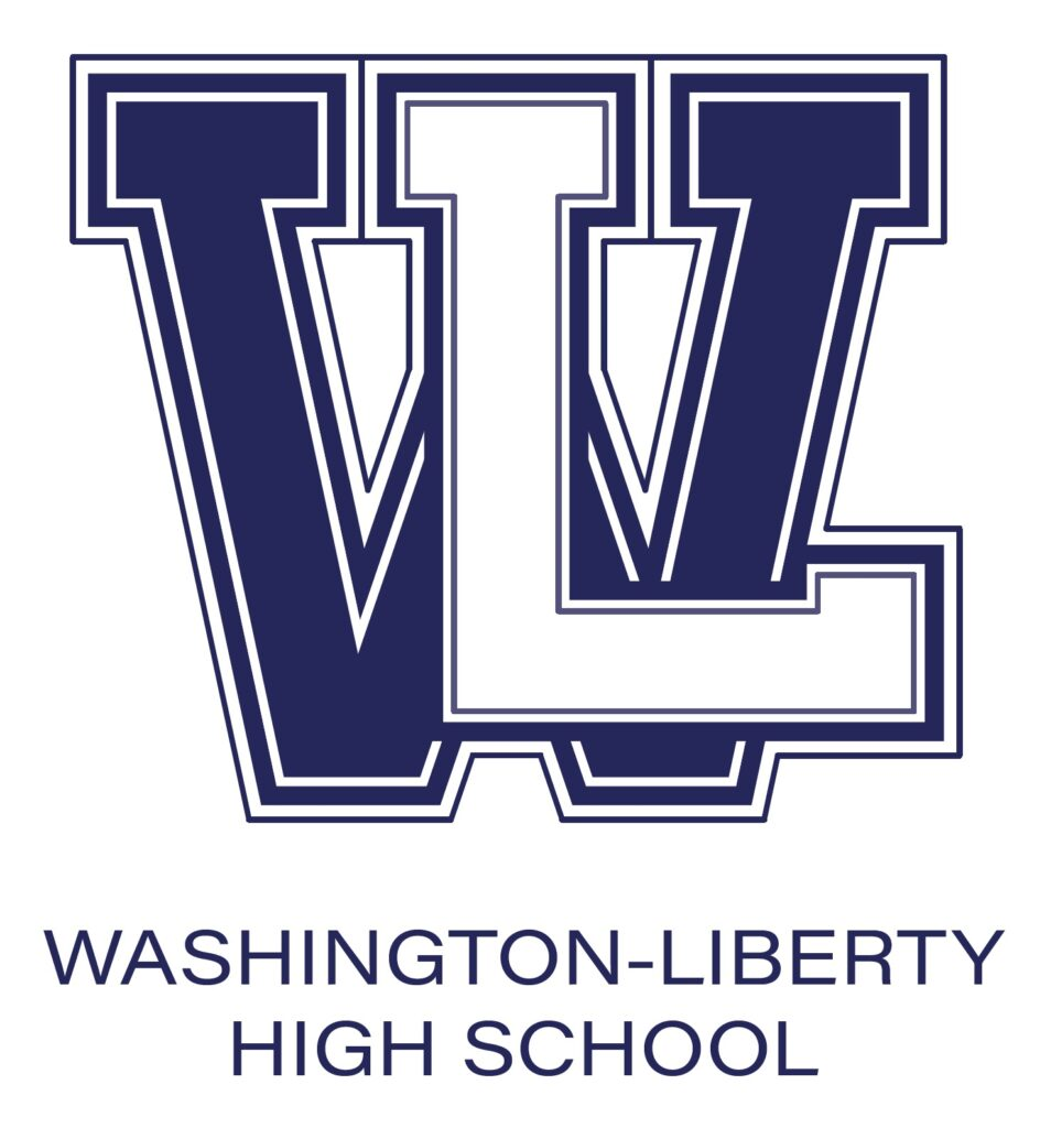 Washington-Liberty W-L Classic Logo Blue and White Colors