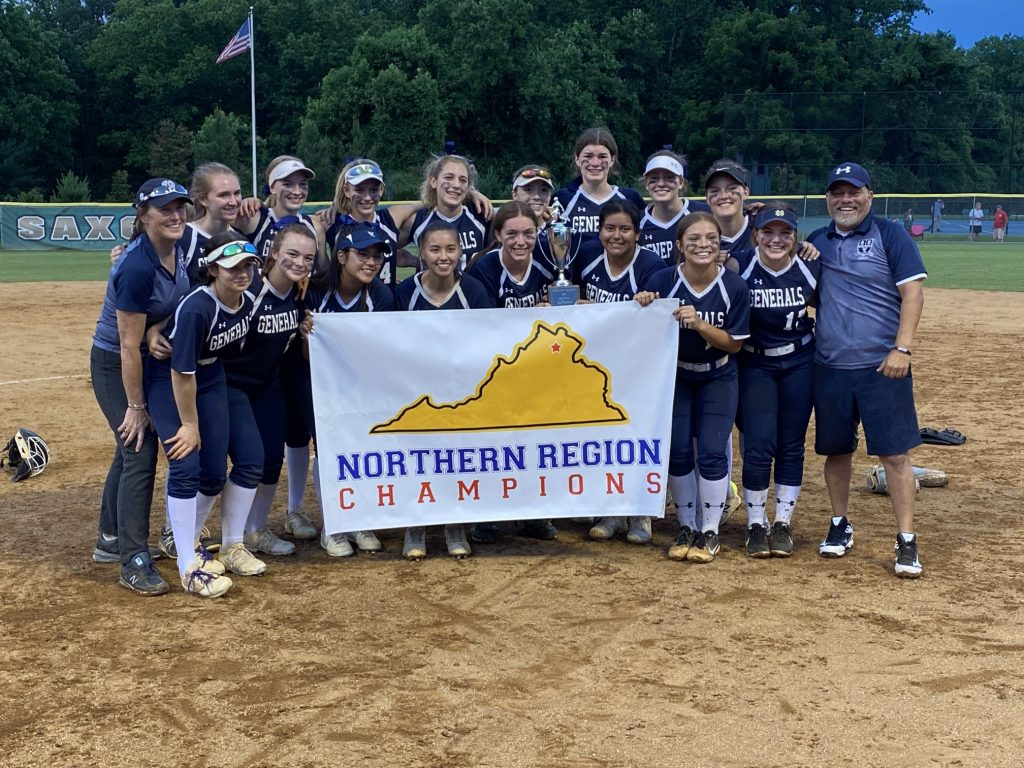 The softball team beats rival Langley for the region championship.