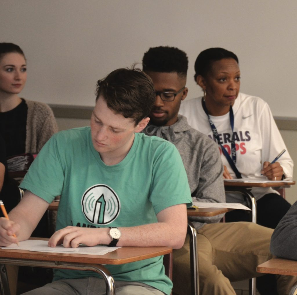 Ms. Stallworth's AP In 2016, English 12 class studies African American playwright August Wilson